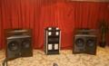 Closeup of Levinson-driven JBL speaker system
