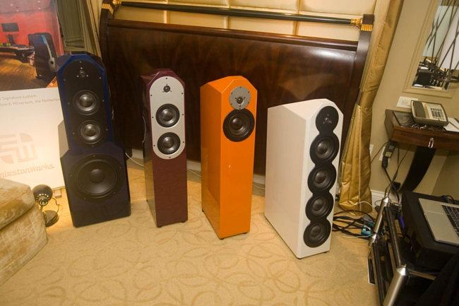 EgglestonWorks speakers on static display
