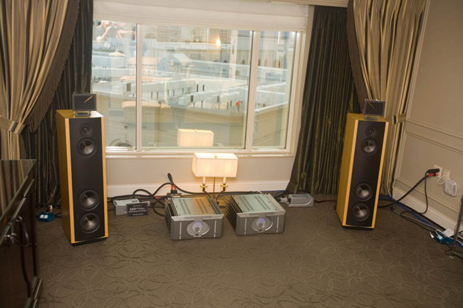 Pass Labs on Magico speakers with Enigmacoustics super tweeters